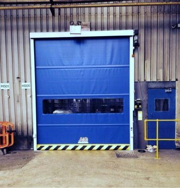 Roll up high speed door in Sheffield factory
