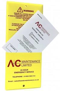 roller shutter maintenance pocket