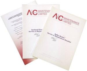 roller shutter maintenance checklists