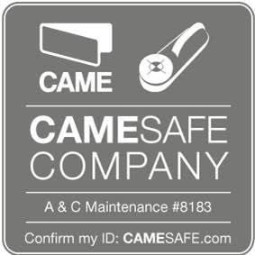 CameSafe Company certificate